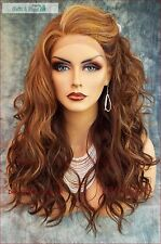 LACE FRONT HAND TIED EAR TO EAR LACE HEAT FRIENDLY OMBRE D8/12BS WIG US SELL 249