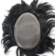Mens Toupee Human Hair Replacement Hairpiece Fine Mono Skin System On Sale #2