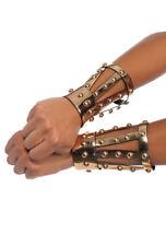 Leg Avenue Chrome vinyl studded arm cuffs