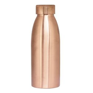 New Indian Designer Solid Pattern Copper Bottle 600 ml For College And School