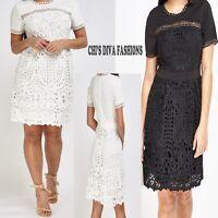BEAUTIFUL QUIZ LACE MINI OCCASION DRESS Sizes  UK 10-16