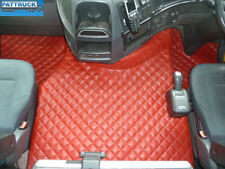 TRUCK ECO LEATHER FLOOR MATS SET FIT VOLVO FH3 2009-2013 TWIN AIR SEATS-RED