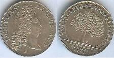 Jeton royal - Louis XV 1703 chambre aux deniers argent / silver 6 gr d=28mm