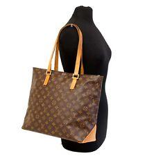 Authentic LOUIS VUITTON Monogram Cabas Mezzo Shoulder Bag Tote Handbag Purse