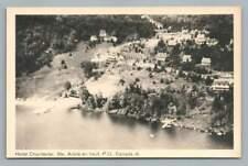 Hotel Chantecler SAINTE ADELE Quebec CPA Vintage Aerial Postcard 1950s