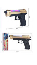 Gold Black Pistol Toy Looks Real Pistol Gun with Light & Sound Effects For Kids