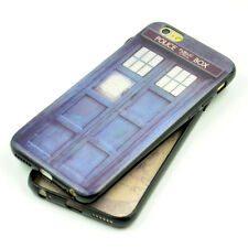 Doctor Who Tardis Style Black Rubber Soft Case TPU Cover For iphone 6 6S