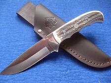 Puma IP Gürtelmesser Jagdmesser Messer  Hirschhorn-Griffschalen Neusilber 331811