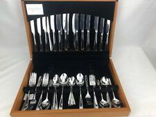 Arthur Price Willow 58 Piece Cutlery Set In Wooden Canteen Stainless Steel 18/10