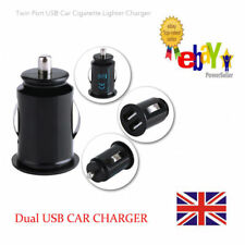 UK Mini Dual Twin Port USB 12V Universal Car Cigarette Lighter Charger Adapter
