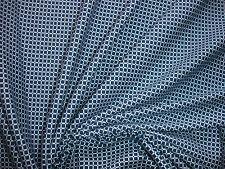 1 Lfm  Jersey 3,05€/m²  Baumwolle, Elasthan marine, weiß Karomuster DI13