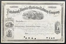 PITTSBURGH, VIRGINIA & CHARLESTON RAILWAY CO. Stock 1882. Pennsylvania RR. VIGS