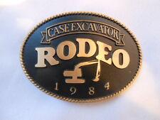 Vintage Buckle 1984 CASE EXCAVATOR RODEO Mens Belt Buckle Backhoe Tractor