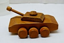 Vintage Wooden Toy army Military Tank - Creative Playthings style