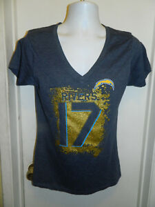 PHILIP RIVERS LOS ANGELES CHARGERS NEW WOMENS NFL FOOTBALL V NECK  SHIRT L