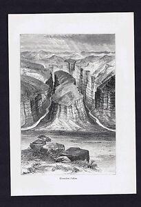 HORSESHOE CANON  - 1894 Historical Print