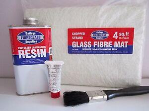 Fibreglass Repair Kit GRP Resin Matting Glass Fibre