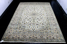 8X12 Breathtaking Mint 300+Kpsi Master Knotted Ivorykashann Traditional Wool Rug