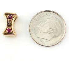 14K yellow Gold & Ruby Bracelet Slide / Spacer / 2.5 grams