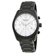 Emporio Armani Ceramica Chronograph White Dial Mens Watch AR1492