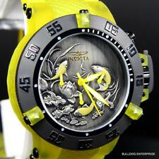 Invicta Subaqua Noma III Koi Fish Silicone Yellow 50mm Chronograph Watch New
