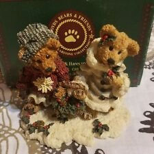 Boyds Bears & Friends 2240 Edmund & Bailey Gathering Holly ,Retired, New In Box!