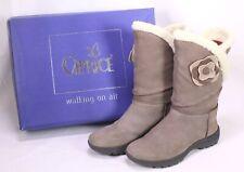 C11 Caprice Winter-Stiefel Boots Nubuk Leder taupe Gr. 37,5 (4,5) gefüttert Fell