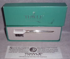 Nib Towle Old Master Pattern Sterling Mustache Grooming Eyebrow Brush Comb Combo