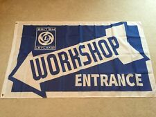 British Leyland Morris Rover Triumph Mini Cooper workshop entrance flag banner