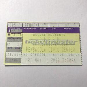 Creed Pensacola Civic Center Florida Concert Ticket Stub Vintage May 12 2000