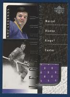 MARCEL DIONNE 00-01 UPPER DECK NHL LEGENDS 2000-01 LEGENDARY GAME JERSEY 26035