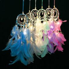 Feather Dream Catcher LED Portable Handmade Wall Hanging Home Decor Dreamcatcher