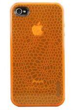 Gecko Gear Orange GLOW in the Dark Case - w/ Anti-Glare Guard for iPhone 4/4s