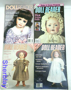 VINTAGE Doll Reader Magazine - Lot of 4 Magazines 1988 1989 1991 1993