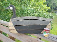 "Antique Loomer Slat Back Canada Goose Decoy 30"""