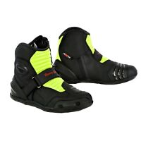 Motorbike Waterproof Shoes Bike Racing Pure Leather Men's Boots with CE Armoured