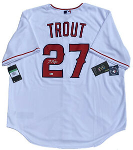 LA ANGELS MIKE TROUT SIGNED AUTHENTIC NIKE MLB AUTOGRAPHED BASEBALL JERSEY COA