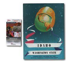 Forest Evashevski Signed 1950 Idaho vs. Washington State Football Program JSA