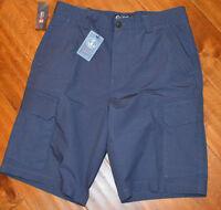Men's Chaps Lighthouse Baypoint Blue Lightweight Cargo Shorts Sizes 32, 34, 36