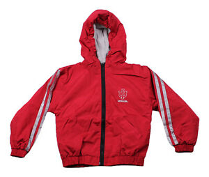 NCAA Youth Indiana University Hoosiers Lightweight Hooded Reversible Jacket, Red