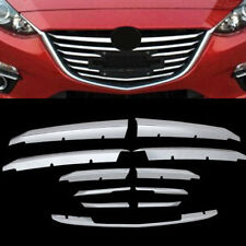 For Mazda 3 Axela M3 2014-2016 Chrome Front Mesh Grille Grill Cover Trim Molding