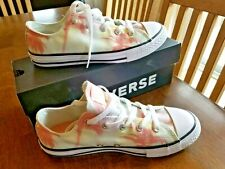 Converse All Star Girls Sz 4 youth Shoes Sneakers Tropical Palms RARE New in Box