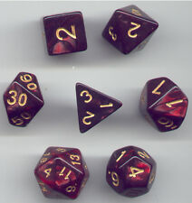 NEW Style ! CUBE RPG Dice Set of 7 - Twisted Black-Red gold ink