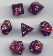 NEW Style ! RPG Dice Set of 7 - Twisted Black-Red D4 D6 D8 D10 D12 D20 D00-90