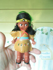 "Native American Indian Girl 6""  Doll - with baby w open close side glancing eyes"