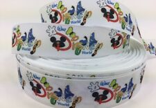 BTY 1 Inch Disney Letters And Characters Grosgrain Ribbon Hair Bows Lisa