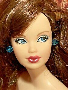 Barbie Doll  Steffi Face w Earrings~Brunette Excellent 🌹fast Ship 🌹