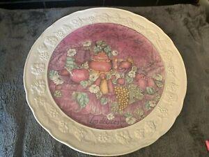 large Plate Les Delices - Gien France