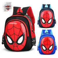3D Kids School Backpack For Boys Child Spiderman Book Shoulder Bags 3-6 Years UK