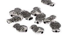 Antique Fish Beads 3D Tibetan Silver Charms Spacer DIY Bracelet 10*7mm 20pcs
